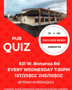 Quiz Night with Quizmaster Steve every Wednesday